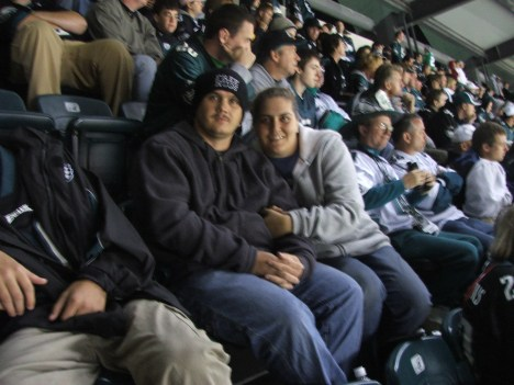 Josh and I at an Eagles football game. 9/16/07