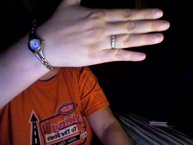 My ring and watch are the only jewelry that I typicall wear.