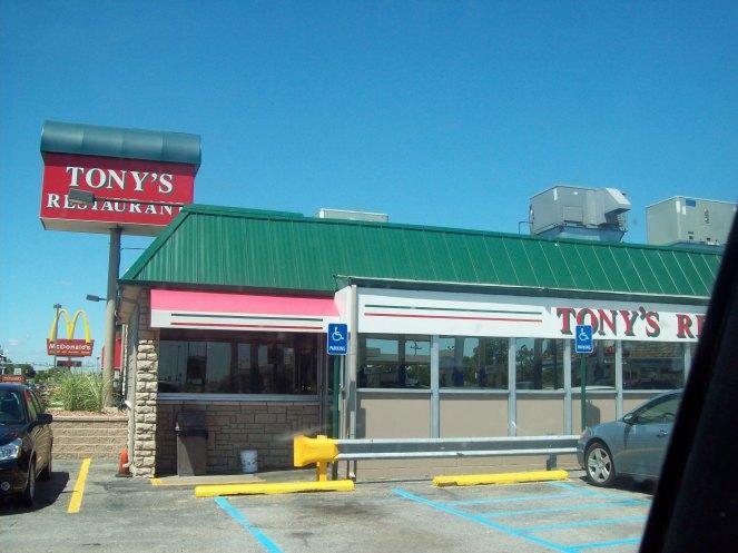 Tony's Restaurant Birch Run Michigan