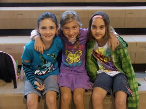 Sarai and a couple friends on the first day of school